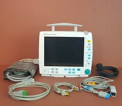 Ge Datex Ohmeda Fm Light Patient Monitor+Ecg+Spo2+Nibp,Temp,Co2 Options+Battery