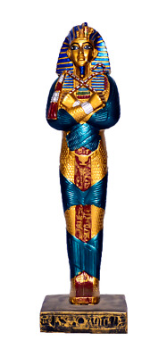 "Ancient Egyptian King tut sarcophagus coffin Statue 12""/ made in egypt"