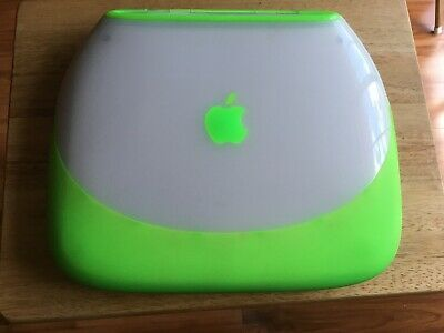 Highly collectable Apple iBook G3 Clamshell laptop computer M6411 Lime Green