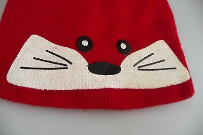 New RED ANIMAL FACE Girls Childs kids boys UP AND READY Beanie Hat ONE SIZE BNWT