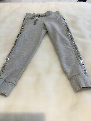 Girls Grey Marks And Spencer Sequin Joggers