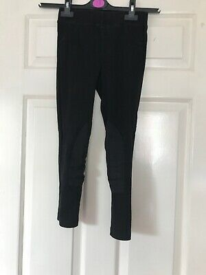 Fantastic Girls Black Jodpur Style Trousers/leggings From H&M Age 7-8 Years