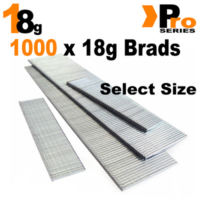 18 Gauge Brads: Sizes available 15mm - 50mm Brads ( 1000 Brad Handy Pack )
