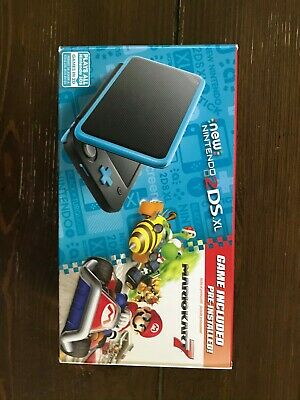 Nintendo 2DS XL - Black + Turquoise With Mario Kart 7 Pre-installed with Case