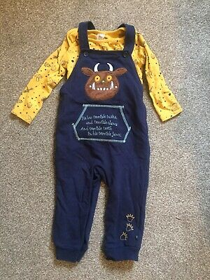 Boys Gorgeous Gruffalo Dungarees Age 18-24 Months Excellent Condition