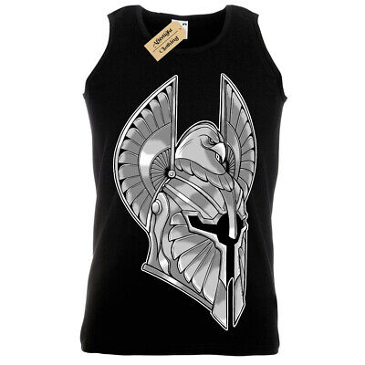 Full Armor T-Shirt spartan helmet warrior knightVest Mens