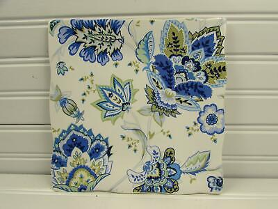 Mirabelle by 222 Fifth Square Salad Plate Blue Floral Scalloped b84