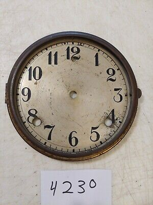Antique Gilbert Tambour Mantle  Clock Dial And Bezel No Glass