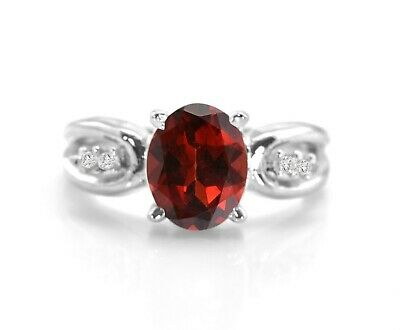 2.8cts Garnet 925 Sterling Silver Ring Jewelry s.7 R5046G-7