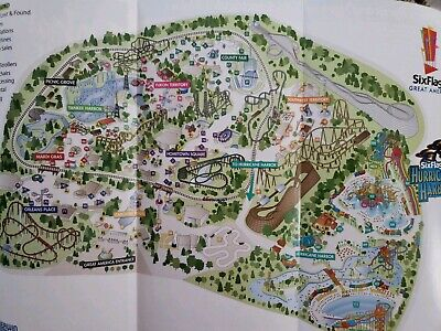 2005 Six Flags Great America Amusement Park Brochure Map Guide Booklet