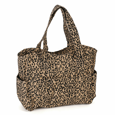 CRAFT BAG 'Leopard' Design CRAFTS KNITTING SEWING Super Quality