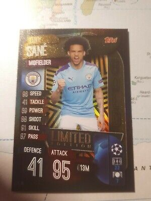 Topps Match Attax Champions League 2019/2020 Limited LE15 Leroy Sane