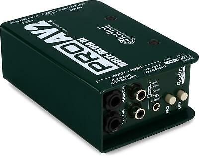 Radial ProAV2 2-channel Passive A/V Direct Box