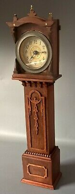Antique Miniature Grandfather / Longcase Clock Working Order