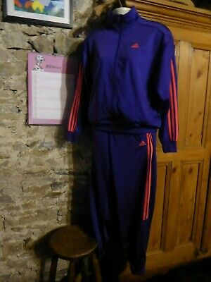 PURPLE Adidas Tracksuit Ladies/Girls/BRIGHT ORANGE/RED STRIPES 10 -12