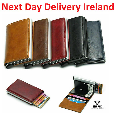 MEN Women PU Leather RFID Blocking Purse Credit Card Holder Money Wallet Blocker