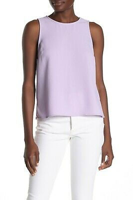 Vince Camuto Sleeveless Parisian Crepe Shell Top Wisteria XX-Small Size