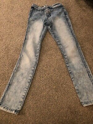 New Look Skinny Leg High Waisted Girls Jeans Age 10