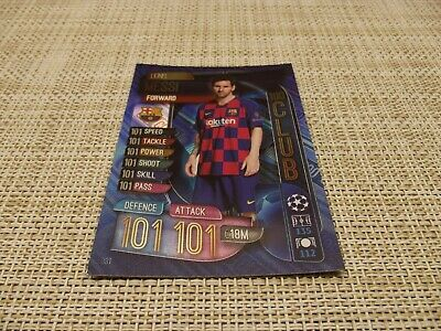 Topps Match Attax 19/20,Champions & Europa League; 100 Club; Lionel Messi 331