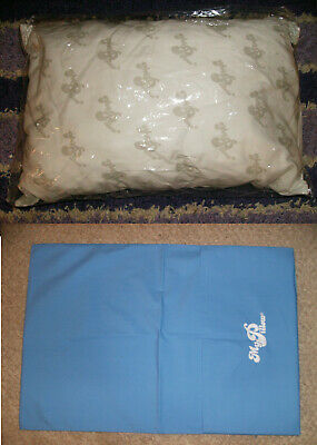 """2 PC GO ANYWHERE MY PILLOW & SKY BLUE CASE 12"""" x 18"""" AS SEEN ON TV TRAVEL"""