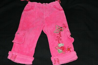 Pampolina Pink Thick Cotton Trousers With Applique ~ Age 1.5-2 Years / 80cm
