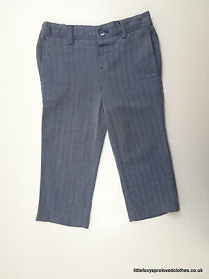 2-3 year Monsoon boys smart trousers classic blue striped