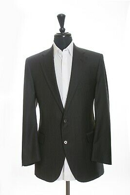 Coppley Grey Striped Super 110s Wool Bocelli Suit 42S 10820