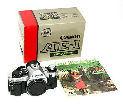CANON AE-1 PROGRAM 35mm SLR Camera Body with Near Mint Box & Manual - Excellent