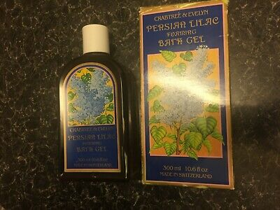 Crabtree & Evelyn Authentic Vintage Rare Persian Lilac Bath Gel Boxed