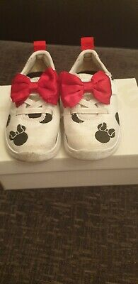 Clarks Minnie Mouse Girls Shoes Red Bow Size 5.F