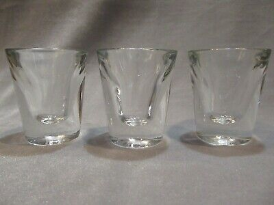 """Set of 3 Clear Heavy Replacement Shooter Shot Bar Glasses 2.25"""""""