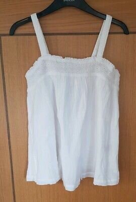 Beautiful white MINI BODEN summer Top - Age 11-12y BNWOT