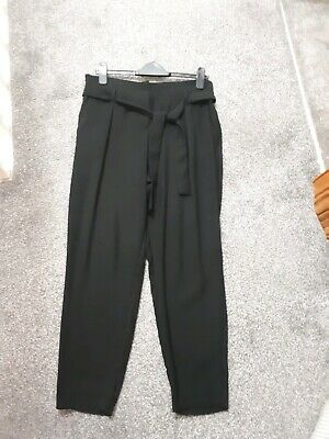 Stunning River Island Black smart Trousers Size 12