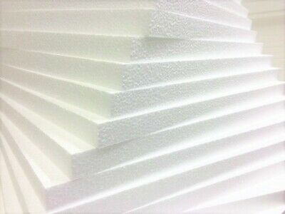 600x400x25mm White POLYSTYRENE FOAM SHEETS Expanded Packing Insulation Poly Foam