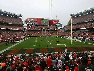 (2) Cleveland Browns Tickets Baltimore Ravens Lower Level Sec 146 12/22/19