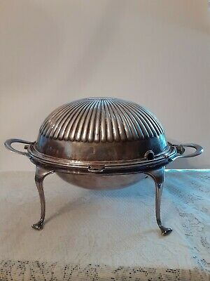 Antique Mappin & Webb Princess Silver Plate Dome Roll Top Warmer England