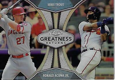 2019 Topps Chrome Greatness Returns Inserts Pick From List - Free Shipping Pwe