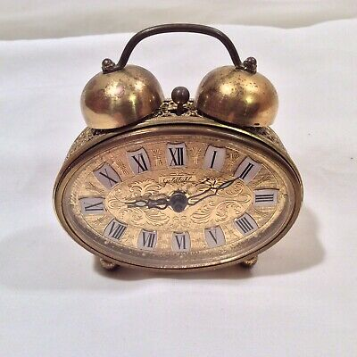 Vintage West German GOLDBUHL Mechanical Alarm Clock, Working