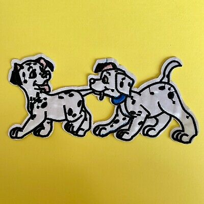 Disney 101 Dalmatians Puppies Dogs Embroidered Appliqué Patch Sew Iron On #