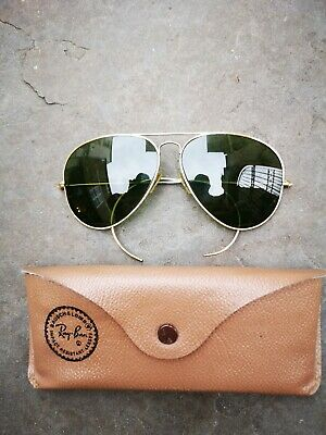 Vintage gold filled B&L Ray Ban aviator sunglasses USA 1/30 10K GO outdoorsman