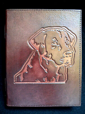 My Dog MURPHY the Labrador - Handmade A5 Leather Journal Diary - Unlined Pages