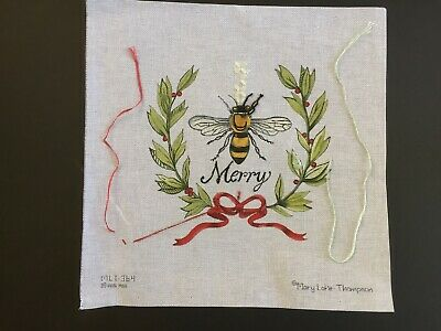 "Mary Lake Thompson Hand-painted Needlepoint Canvas ""Bee Merry""/SG/Threads/Beads"