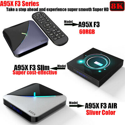 A95X F3 Series 8K Android 9.0 4+32/64G Keyboard 2.4/5G WIFI BT TV BOX 3D Movies