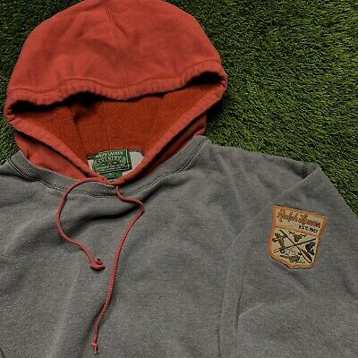Vintage 90s Polo Country Ralph Lauren Patch Pullover Crewneck Hoodie Mens Size L