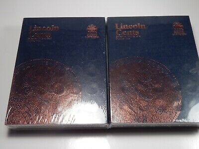Whitman Folders Lincoln Cents 1 and 2 Years 1909 - 1974