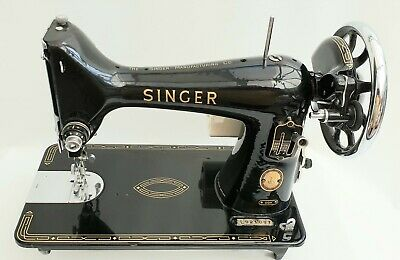 Singer 99k Heavy Duty Semi Industrial Sewing Machine + New Motor & Foot + Handle