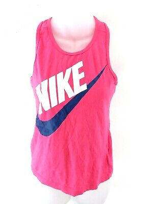 NIKE Girls Vest Top 12-13 Years L Large Pink Cotton