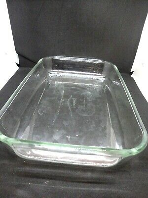 Pyrex 3 Qt Clear Glass Rectangular Baking Dish 233 Excellent condition 9x13 inch