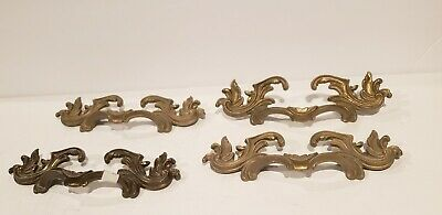 """1 Solid Brass Dresser Drawer Pull Handles SHABBY CHIC 7""""French provincial $10 ea"""