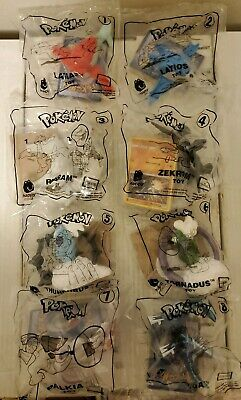 2018 Pokemon Mcdonalds Happy Meal Toys Complete Set Sealed 8 With Cards